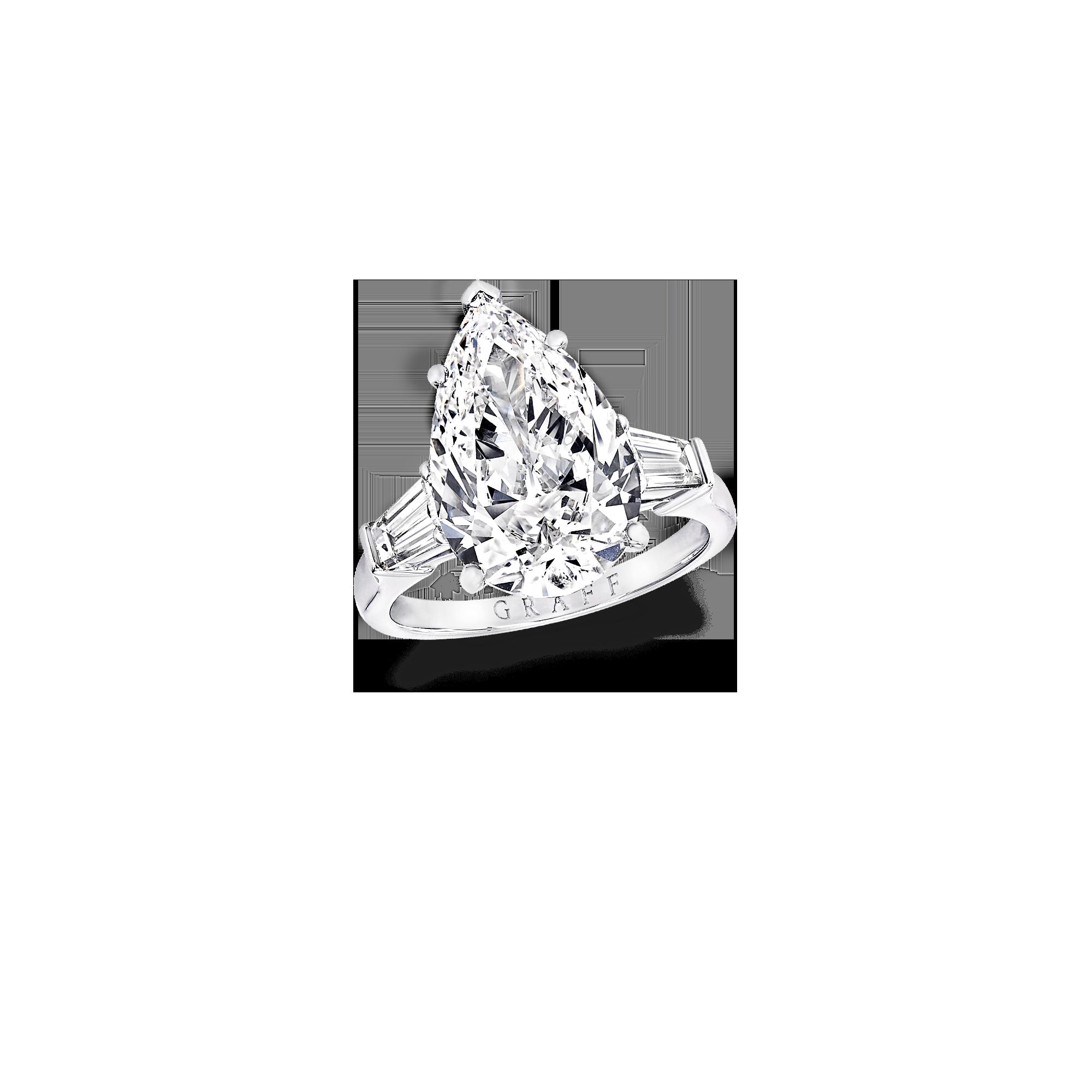 2000x2000 Classic Graff Pear Shape Ring, Diamond Graff