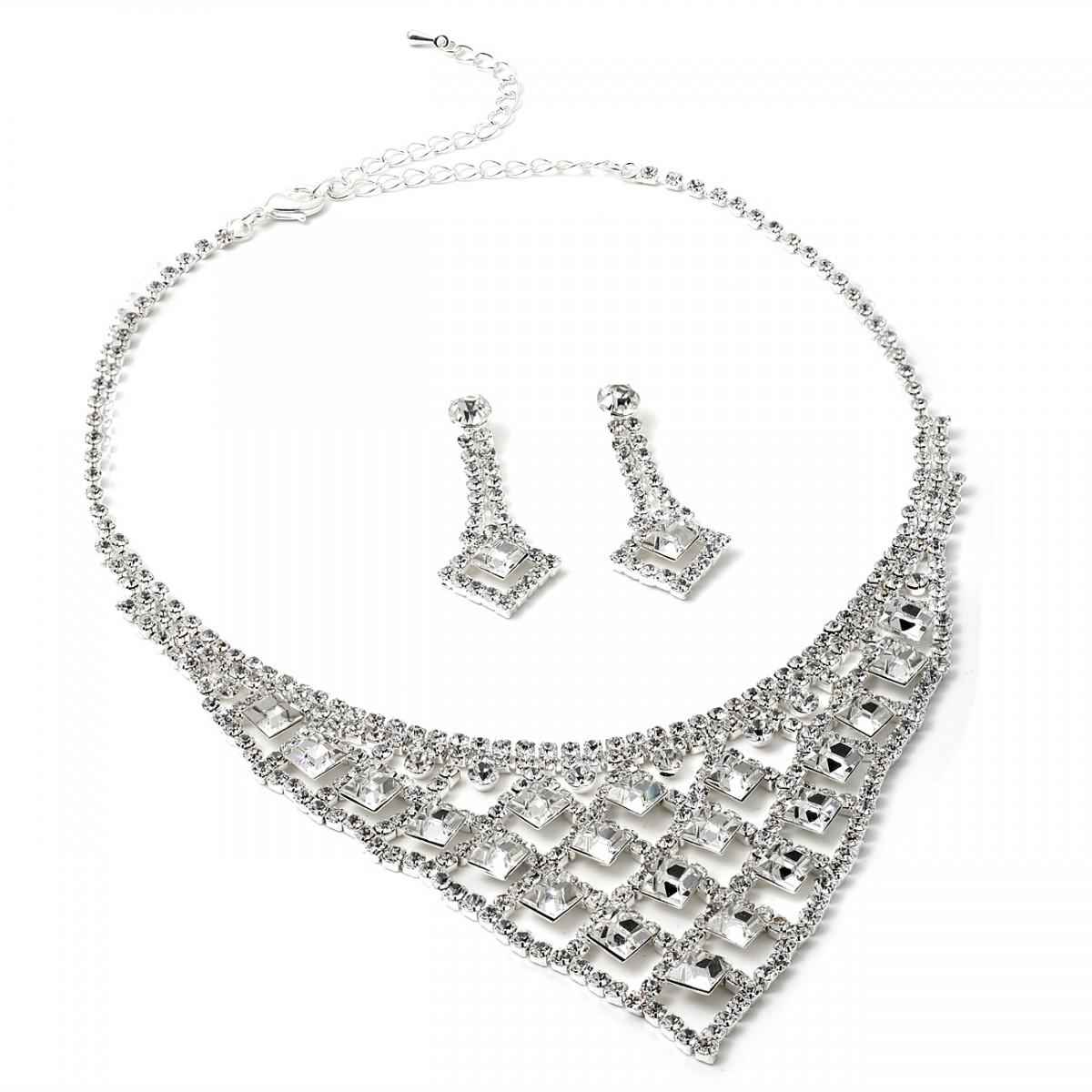 1200x1200 Silver Crystal Rhinestone Diamond Shape With Diamond Shape Crystal
