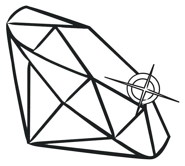 600x539 Diamond Coloring Page Print Free Coloring Pages Of Shapes For Kids