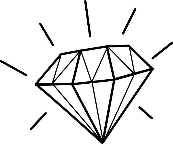 Diamond Tattoo Drawing