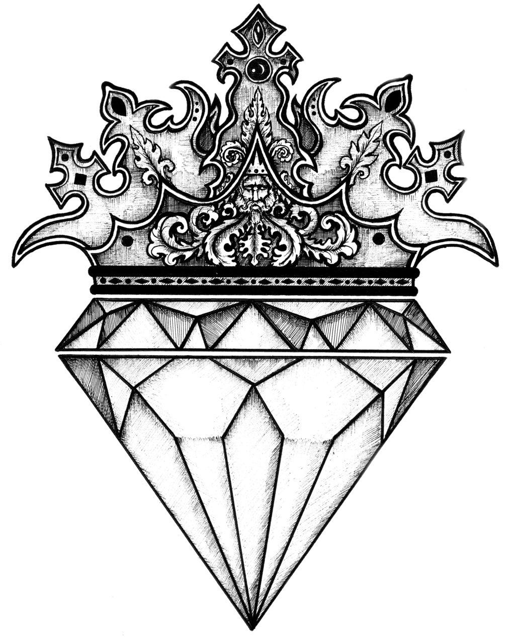 1024x1268 Crowned. Diamond Crown, Tattoo And Tatting