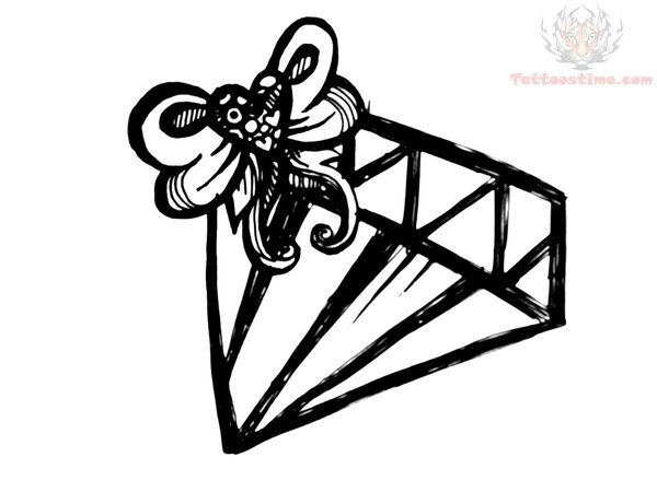 Line Drawing Diamond : Diamond tattoo drawing at getdrawings.com free for personal use