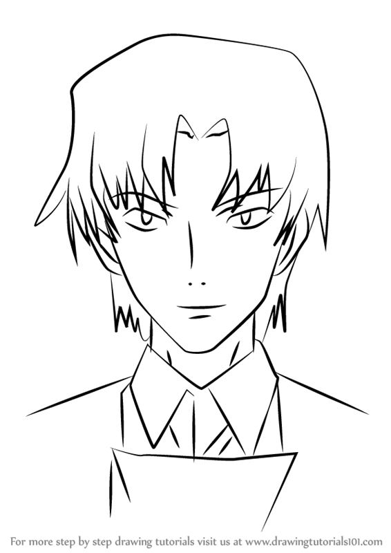 566x800 Learn How To Draw Ryuji Kurosaki From Future Diary (Future Diary