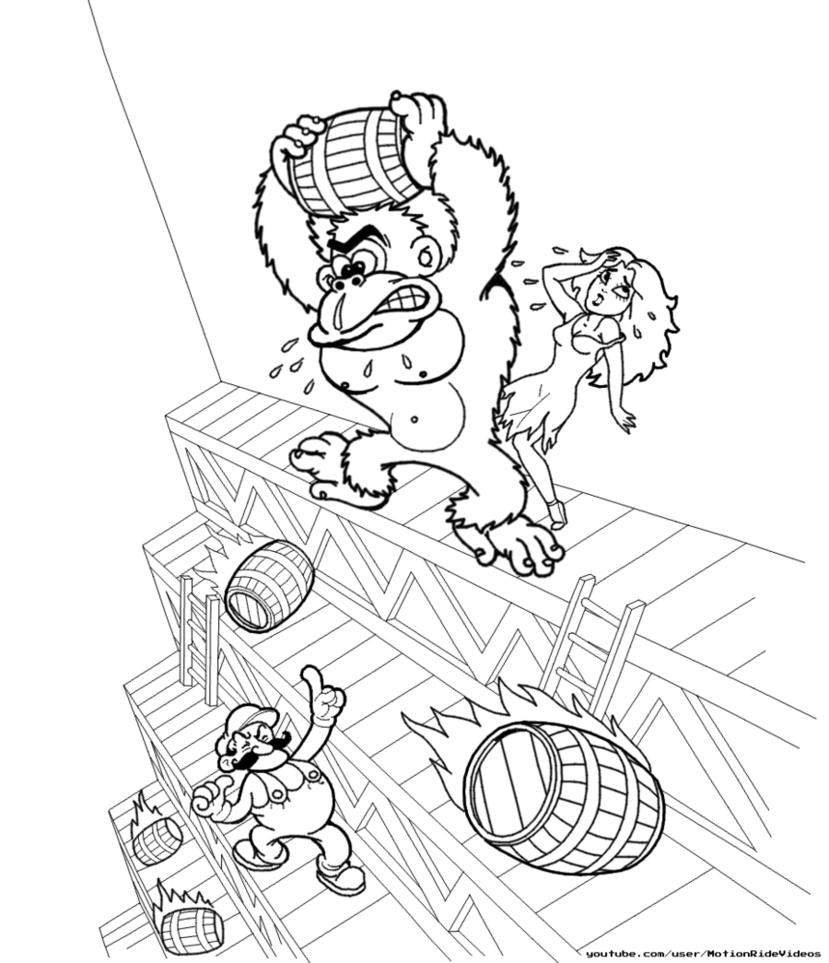 829x963 Donkey Kong Arcade (Speed Drawing) By Motionride