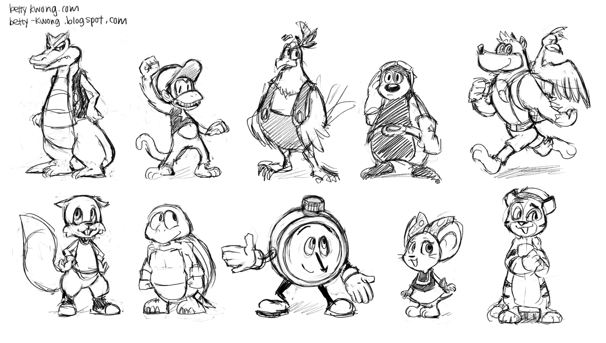 1200x679 Diddy Kong Racing Sketches By Bettykwong