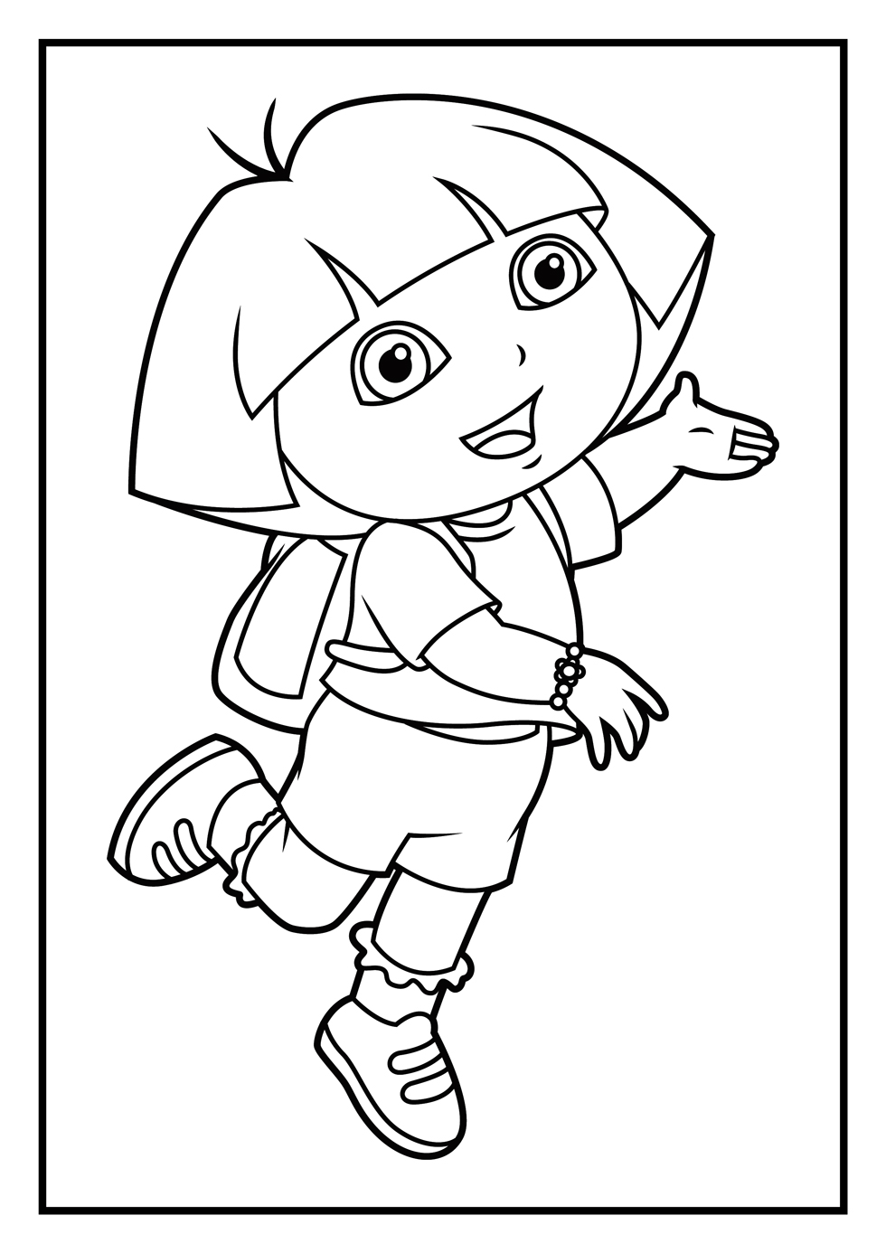 dora face coloring pages - photo#30