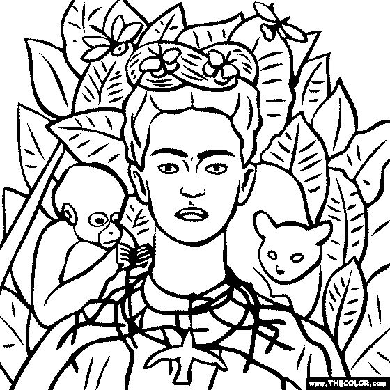 frida kahlo coloring pages | Diego Rivera Drawing at GetDrawings.com | Free for ...