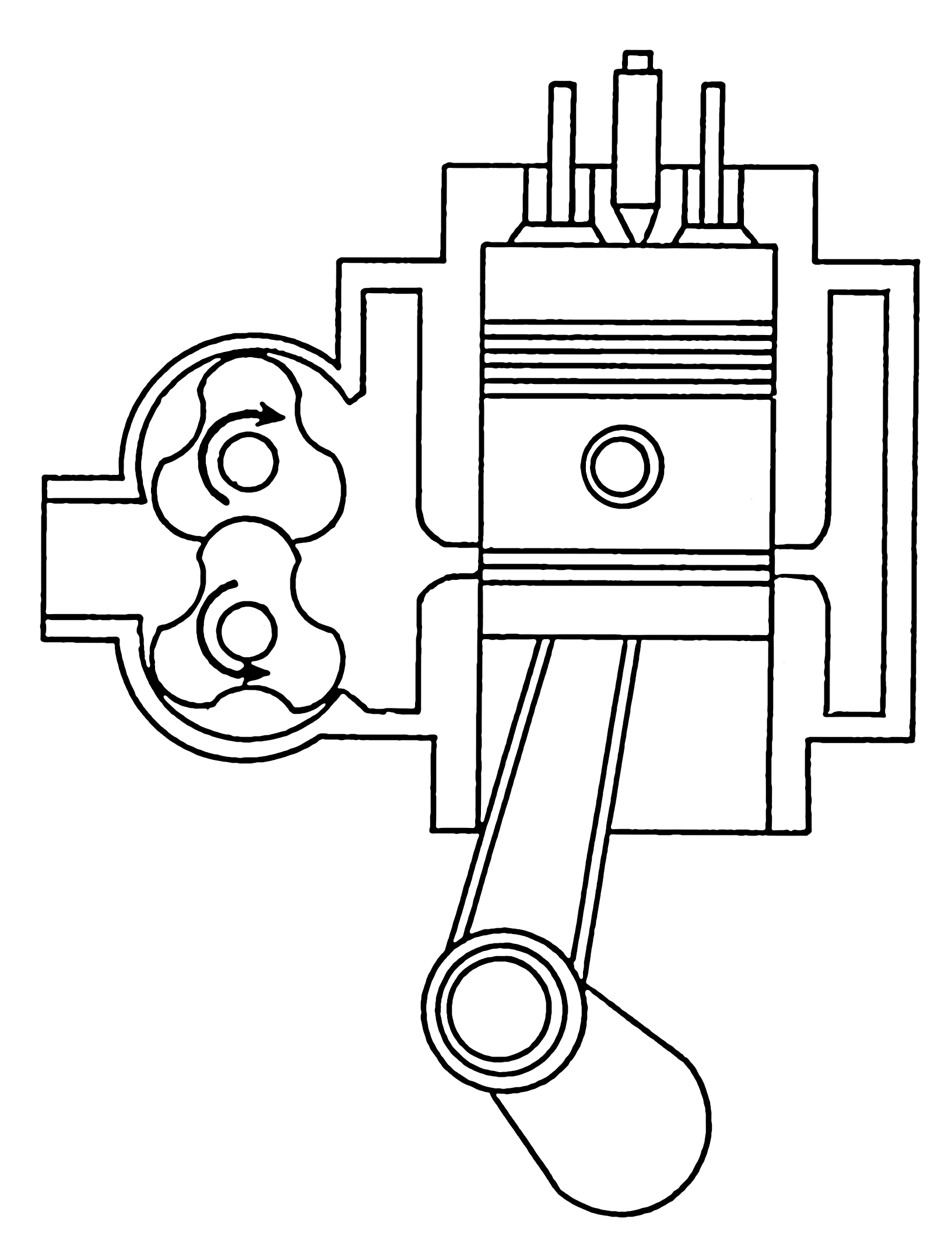 Diesel Engine Drawing At Free For Personal Use 2 Stroke Diagram 1633x2147 Filediesel Psf
