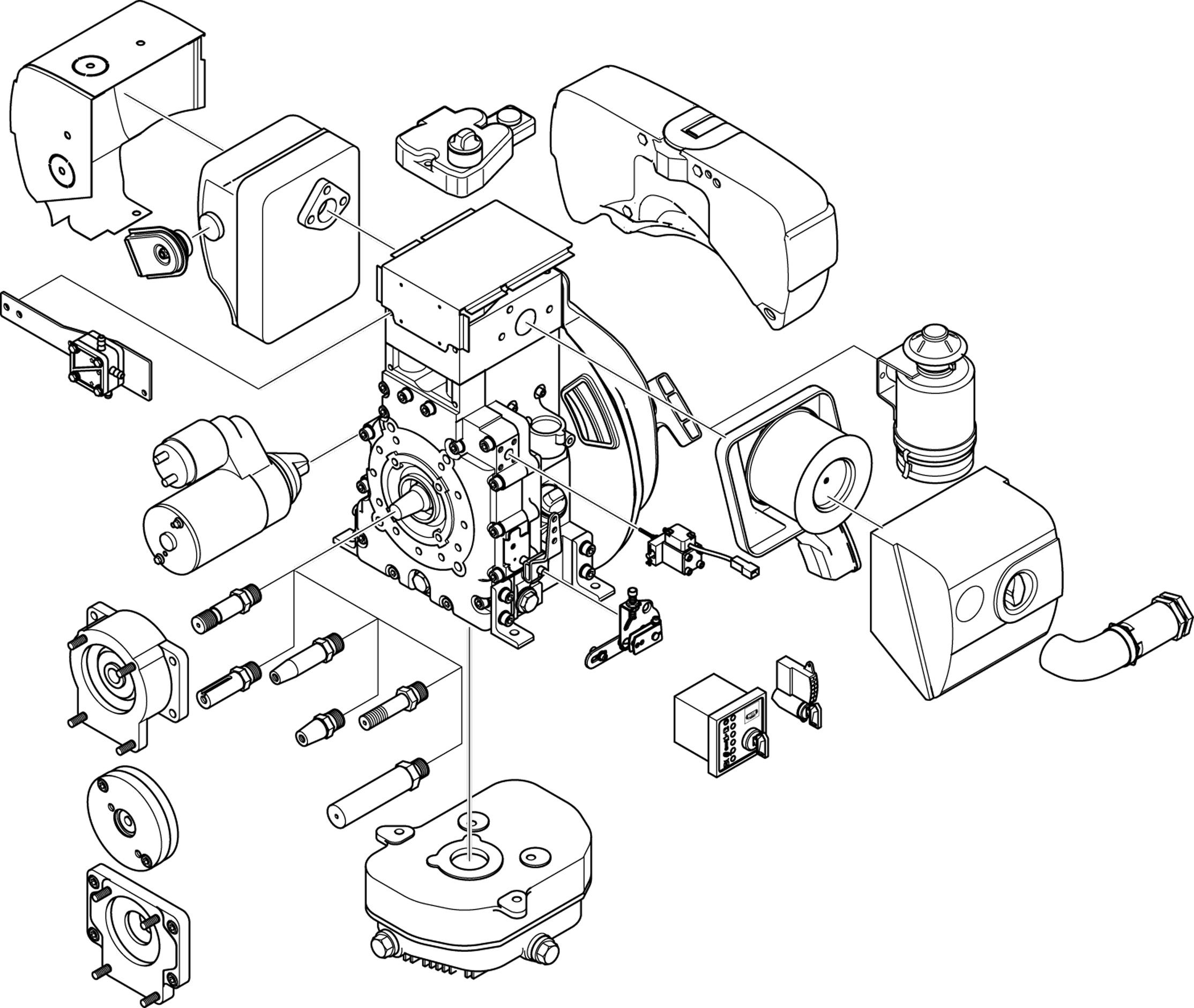 2228x1881 B Series, Small Diesel Engine, Single Cylinder Engine