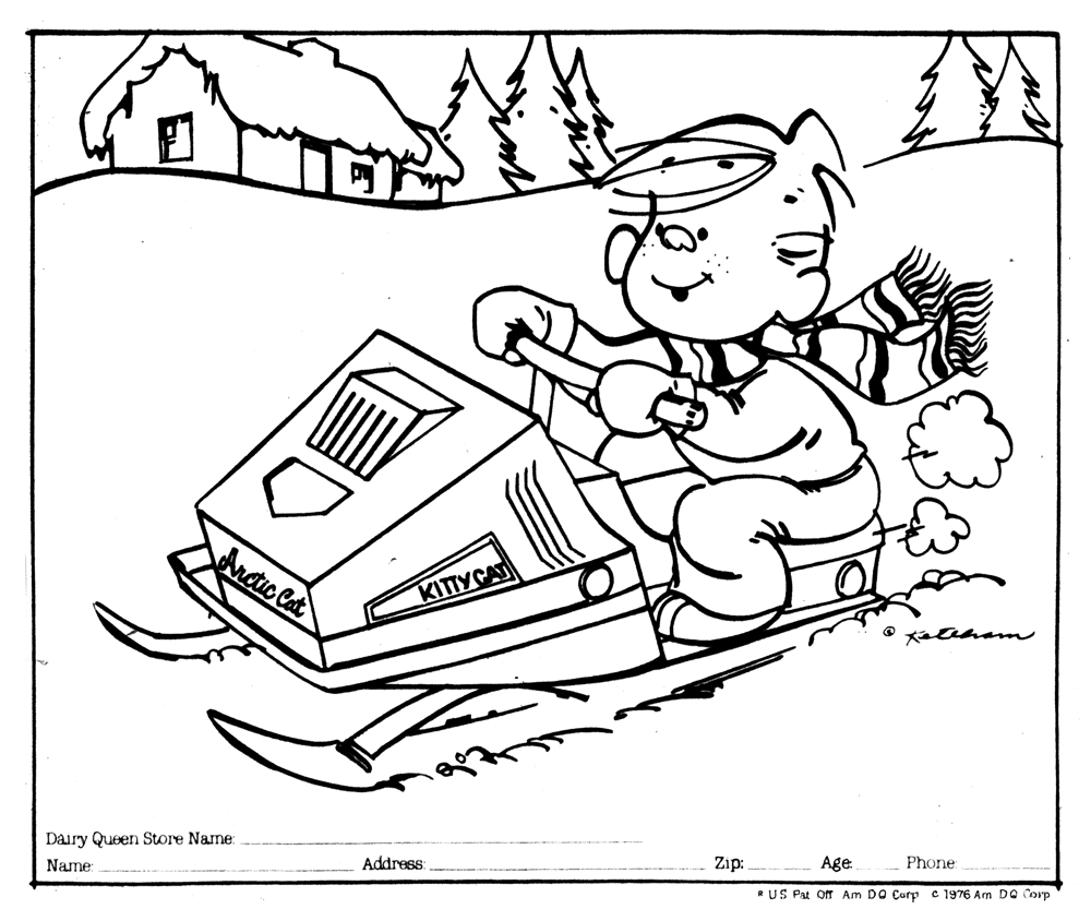 1000x844 Snowmobiles With Flames Coloring Page