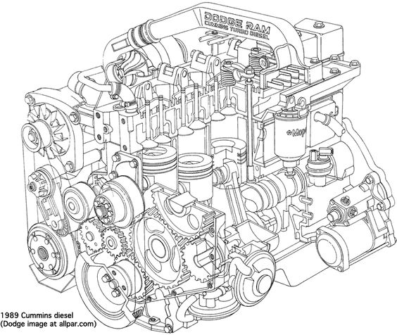564x476 Diesel Engine Parts Diagram