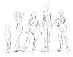 Different Body Types Drawing