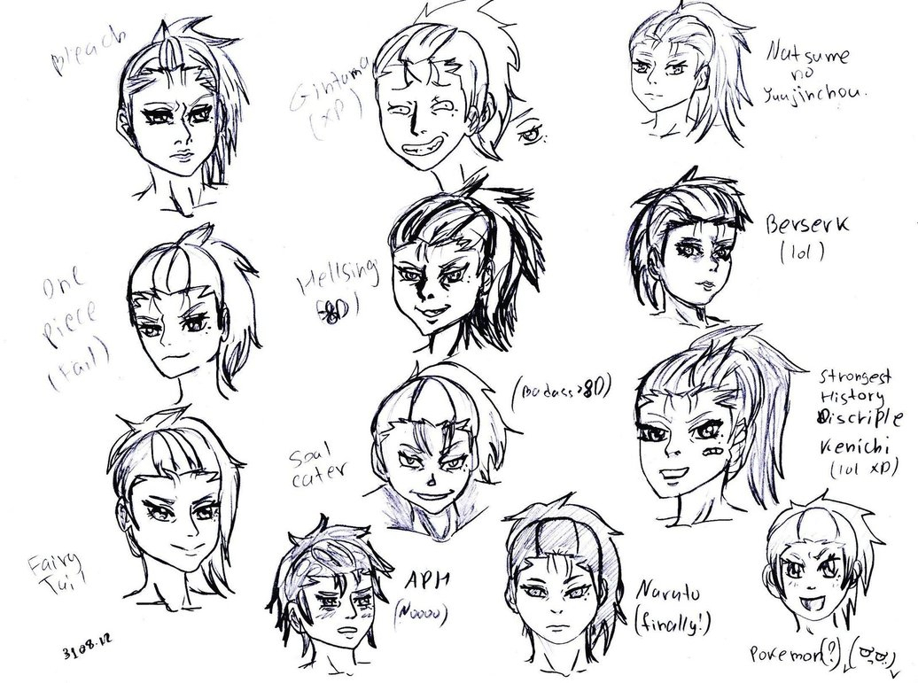 1036x771 Different Anime Drawing Styles Different Anime Style