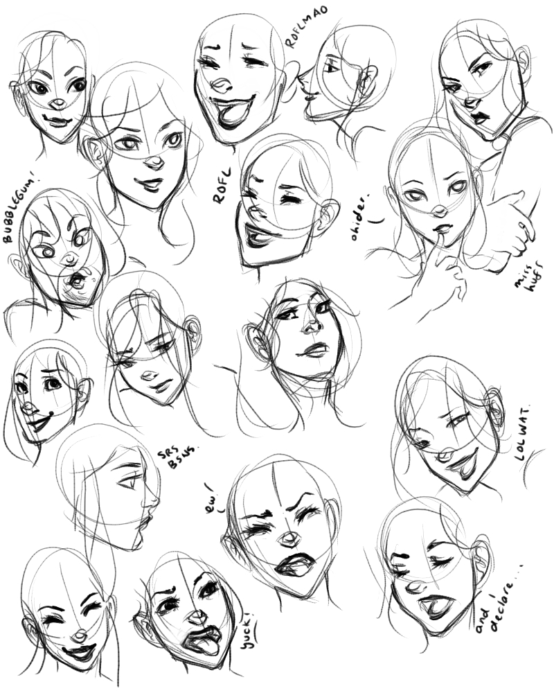 800x1000 Facial Expressions Practice 1 By Raeri Chan