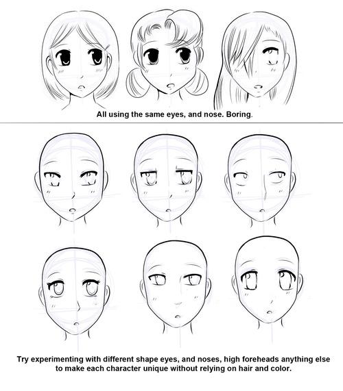500x571 How To Draw Manga How To Draw Manga Faces