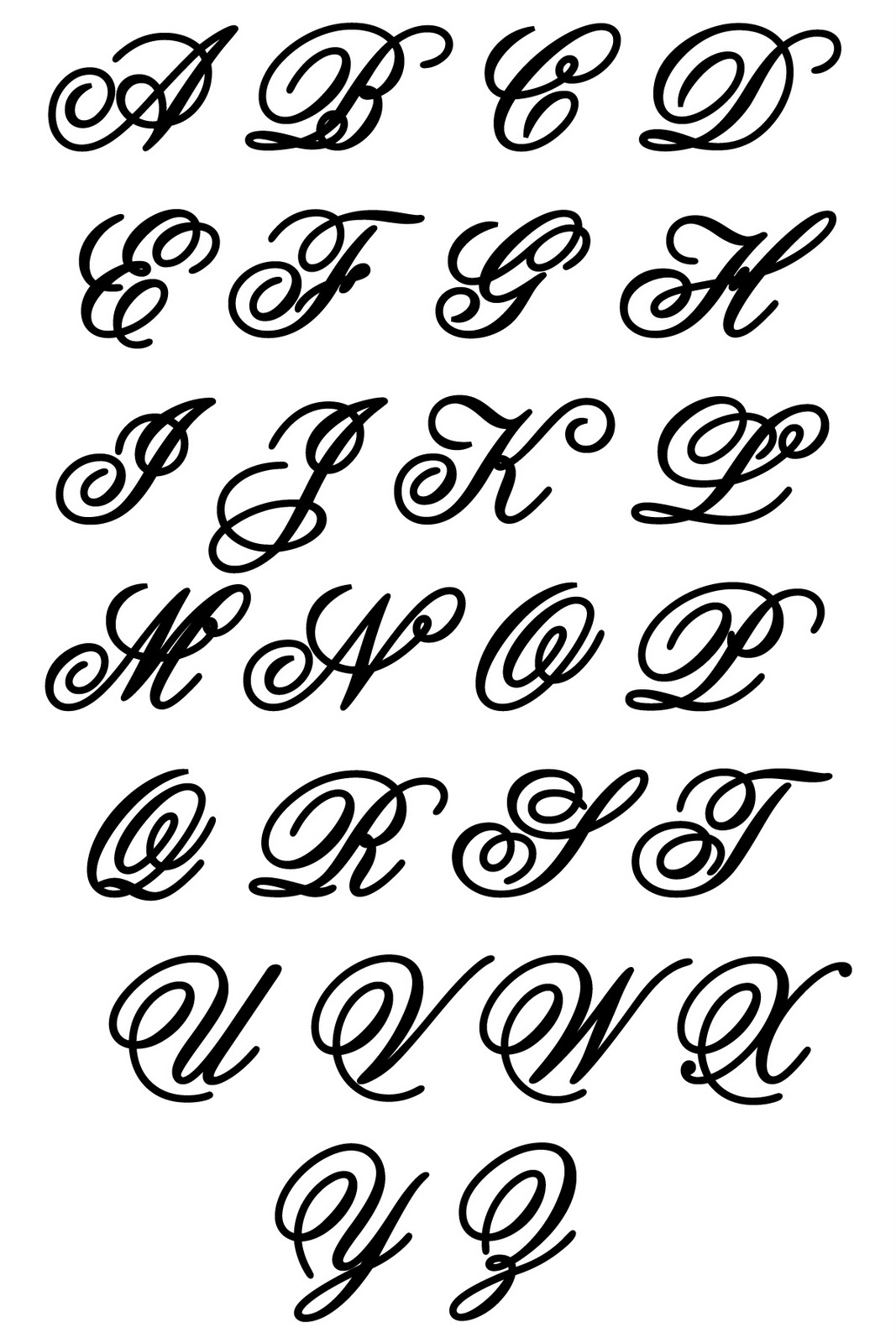 1067x1600 Different Lettering Styles Alphabet Calligraphy Romantic