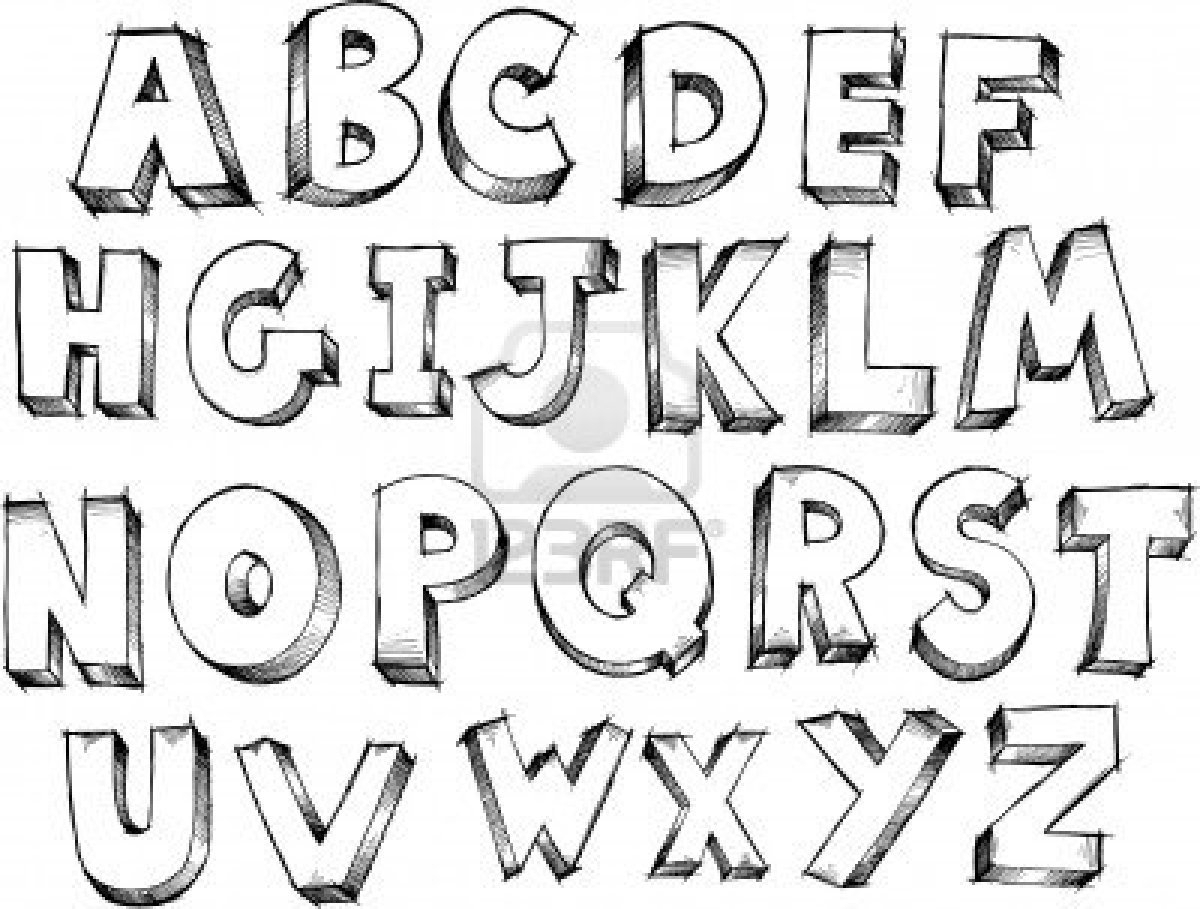 1200x909 Doodle Lettering Styles A Z Image Result For Different Fonts