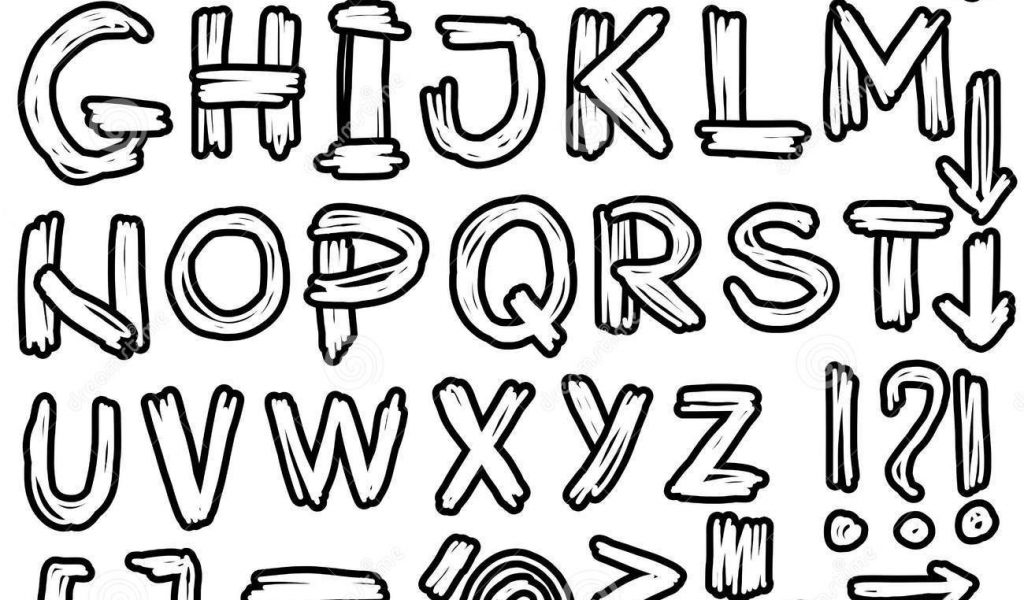 1024x600 Lettering Styles For Drawing 11 Font Images
