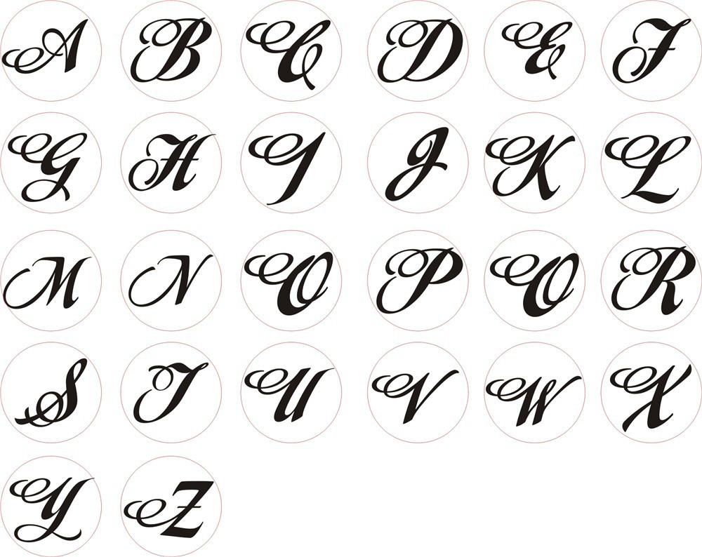 1000x794 Letters In Different Style