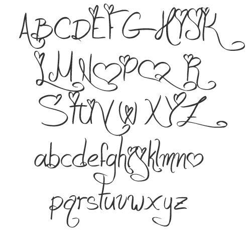 500x459 Schriften Fonts Malen Style, Hand Drawn Lettering