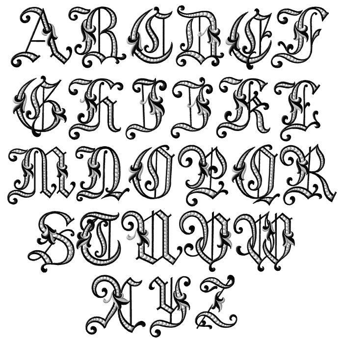 697x697 Calligraphy Alphabet Old English Calligraphy Alphabet. 6