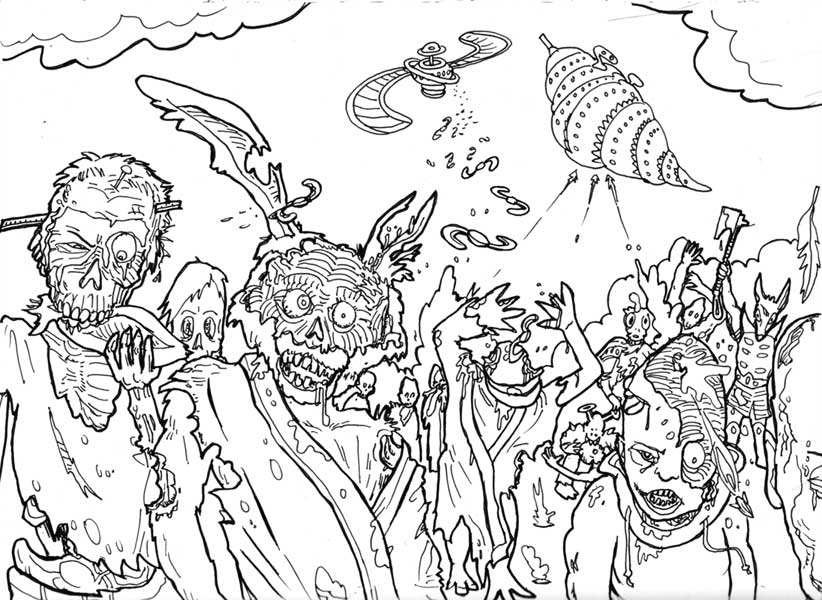 Difficult drawing at free for personal for Difficult halloween coloring pages