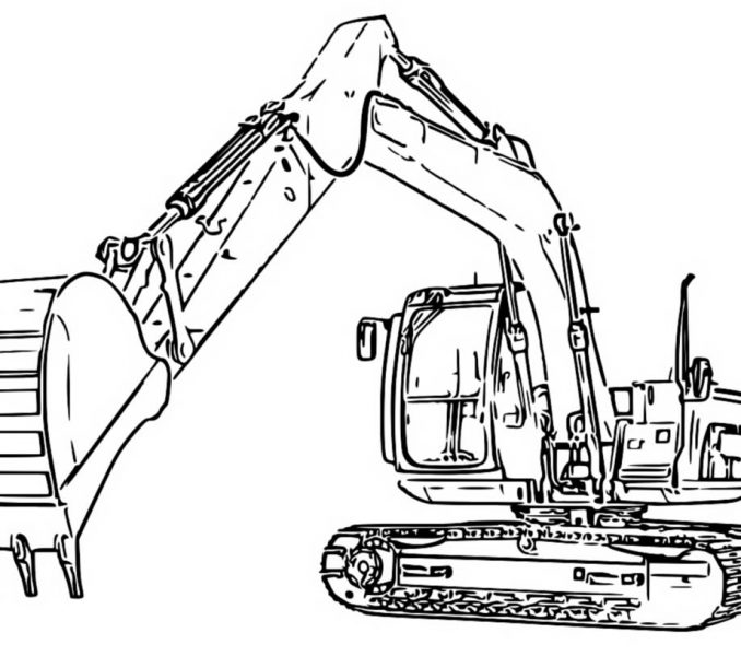 678x600 Drawing Digger Coloring Pages 27 About Remodel Sheets With Digger
