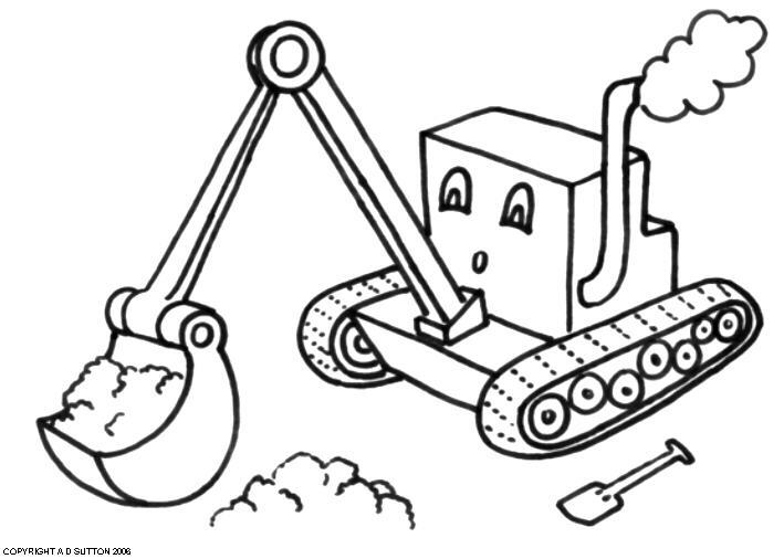 Coloring pages of trucks or backhoes ~ Digger Drawing at GetDrawings.com | Free for personal use ...