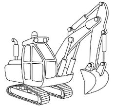 236x220 How To Draw Excavators In 11 Steps Color Sheets, Craft