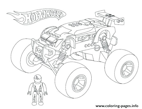 600x463 Monster Truck Grave Digger Coloring Also Truck Drawing Grave