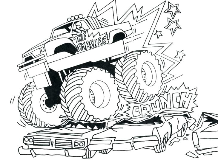 730x537 Beautiful Trucks Coloring Pages New Monster Truck Printable Page