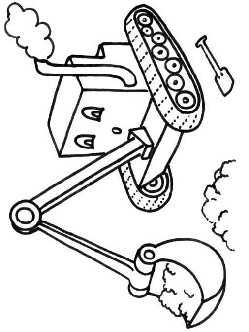 506x673 The Little Digger Coloring Picture For Kids