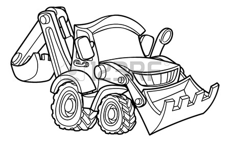 450x278 Bulldozer Digger Cartoon Character Royalty Free Cliparts, Vectors