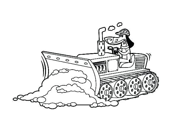 600x464 Bulldozer Monster Truck Coloring Pages Pulling Dirt In Digger Page