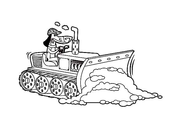 600x464 Bulldozer Pulling Dirt In Digger Coloring Page Coloring Sun