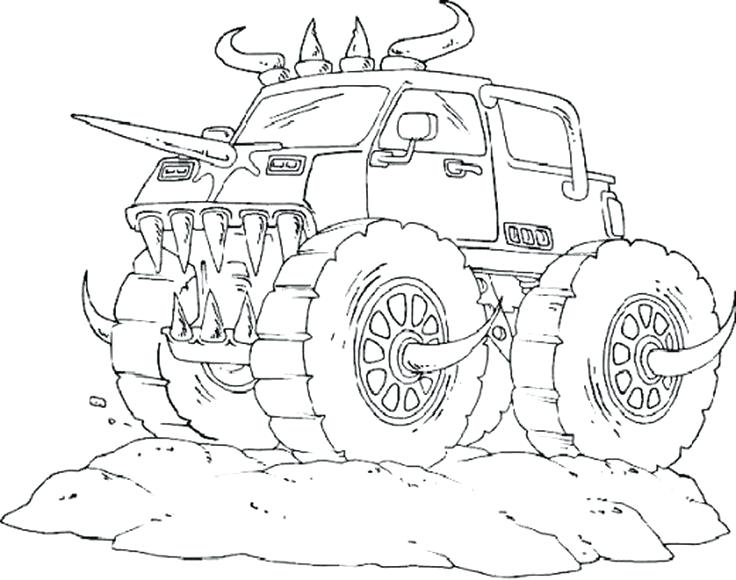 736x580 Coloring Pages Monster Trucks Monster Truck Coloring Pages
