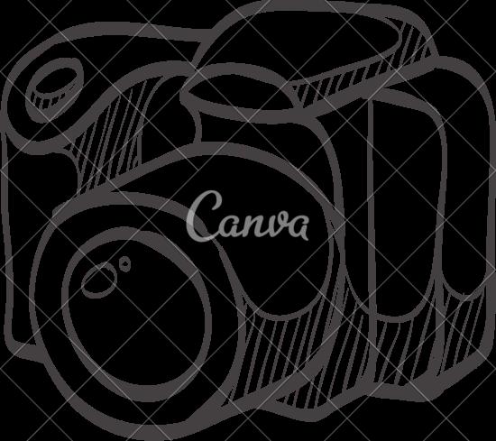 550x489 Digital Camera Outline
