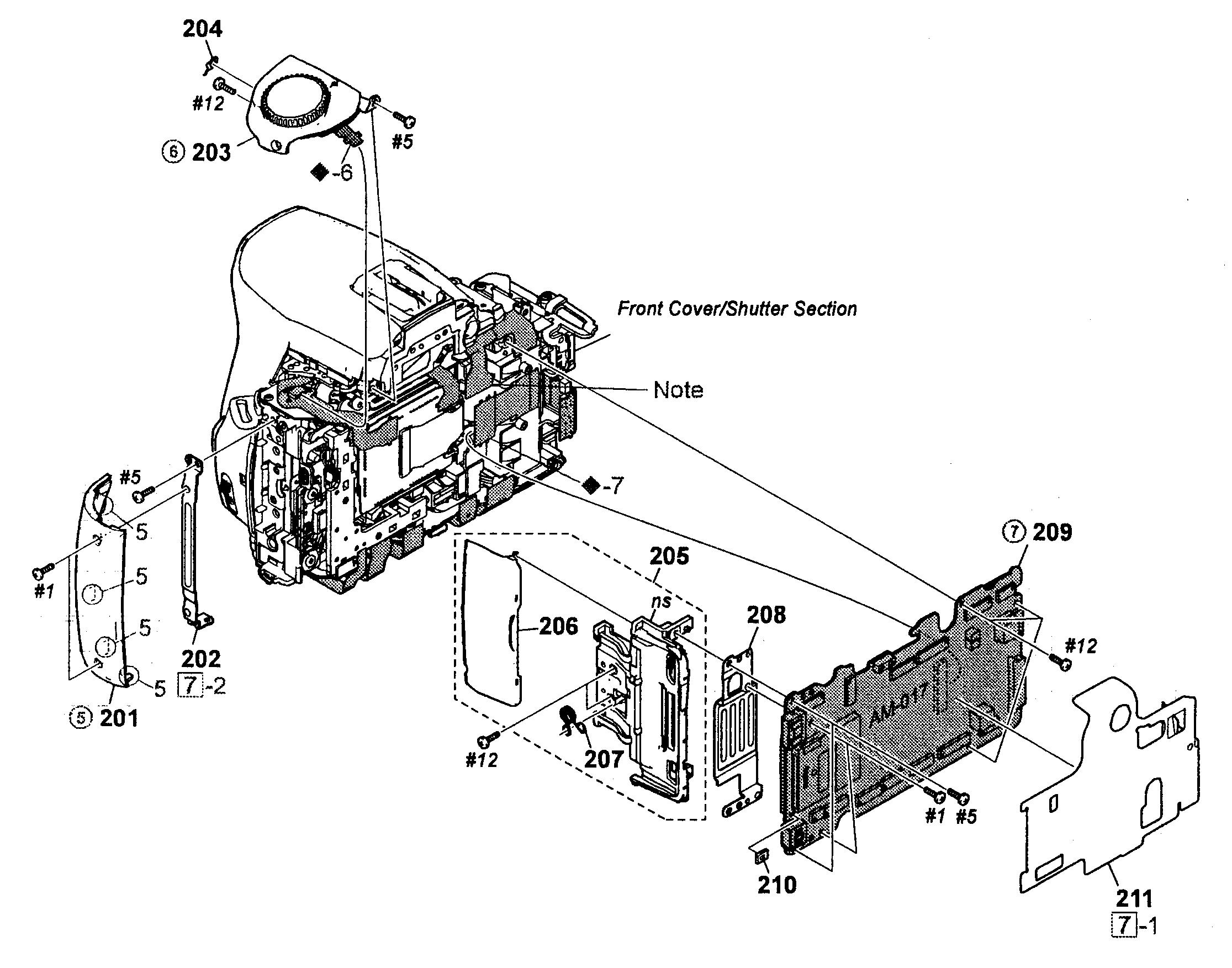 2231x1753 Sony Digital Camera Parts Model Dslra230l Sears Partsdirect