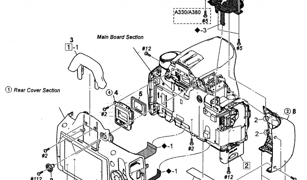 1024x600 Sony Digital Camera Parts Model Dslra380l Sears Partsdirect