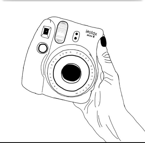 500x494 Polaroid Tumblr Outline Drawing Shared By Ellie