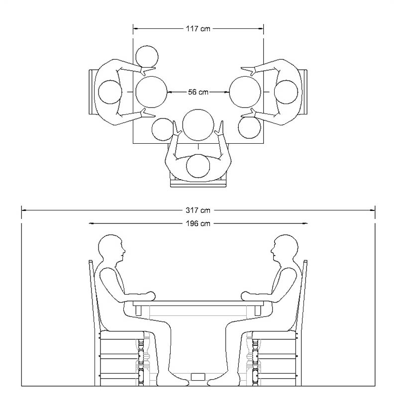 800x824 A Guide To Choosing The Ideal Dining Table Width