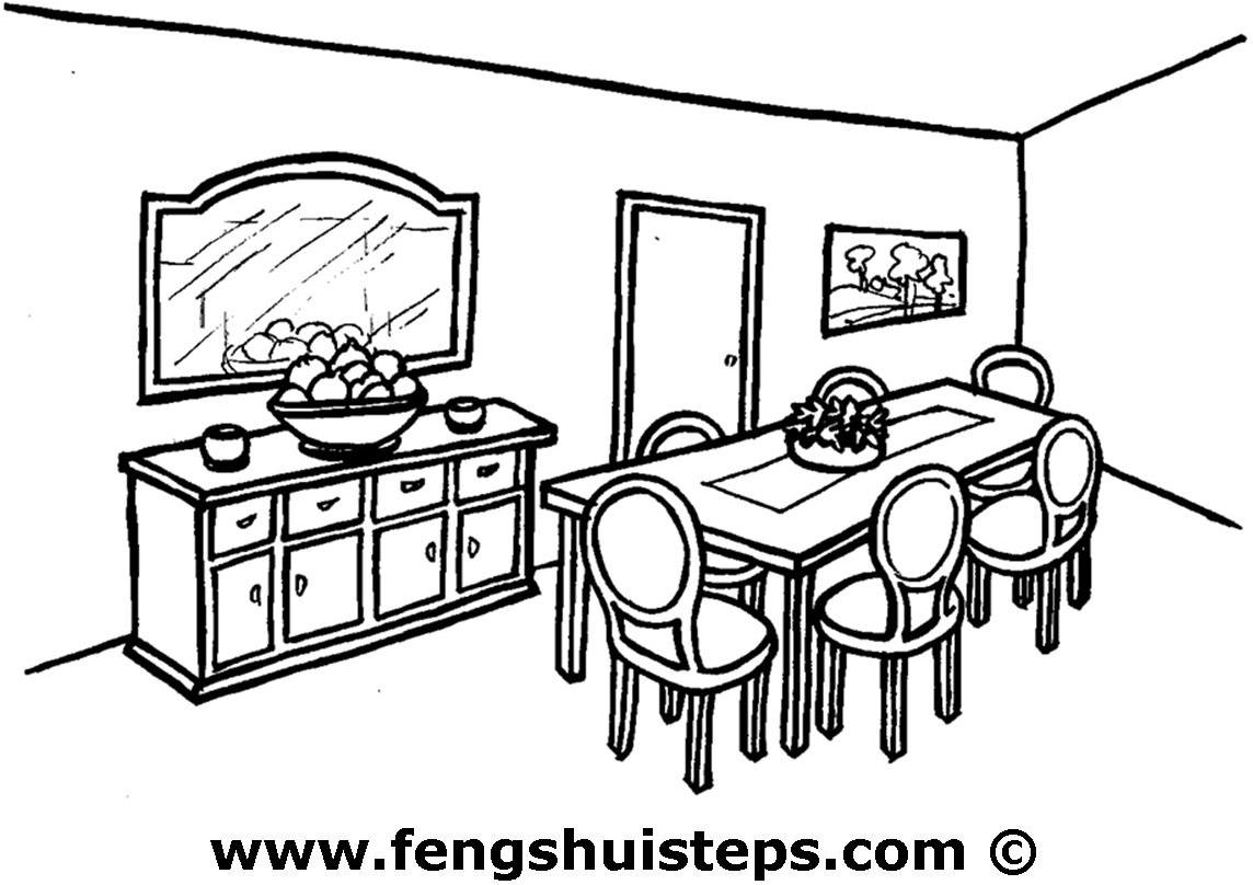 Dining Table Drawing at GetDrawings com | Free for personal