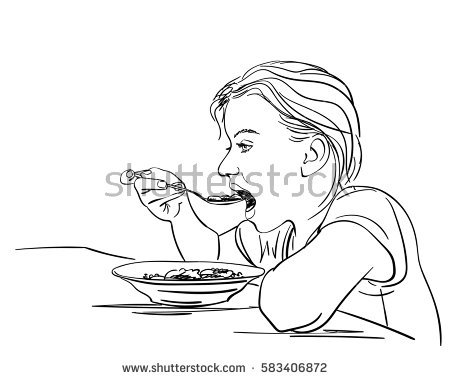 450x380 Drawn Meal Plate
