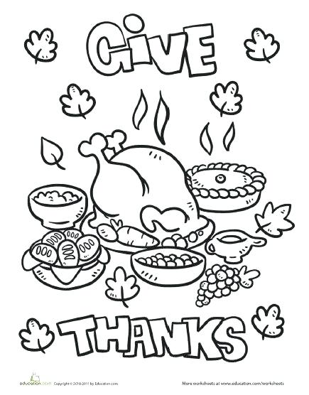 435x556 Thanksgiving Turkey Dinner Coloring Pages Colouring For Cure Food