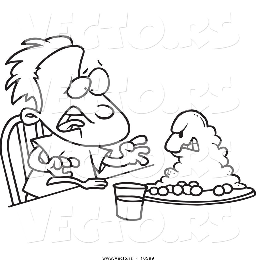 1024x1044 Vector Of A Cartoon Monster Emerging From A Boy's Dinner Plate
