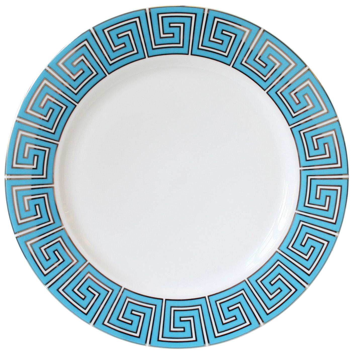1400x1400 Modern Tableware Greek Key Dinner Plate Jonathan Adler
