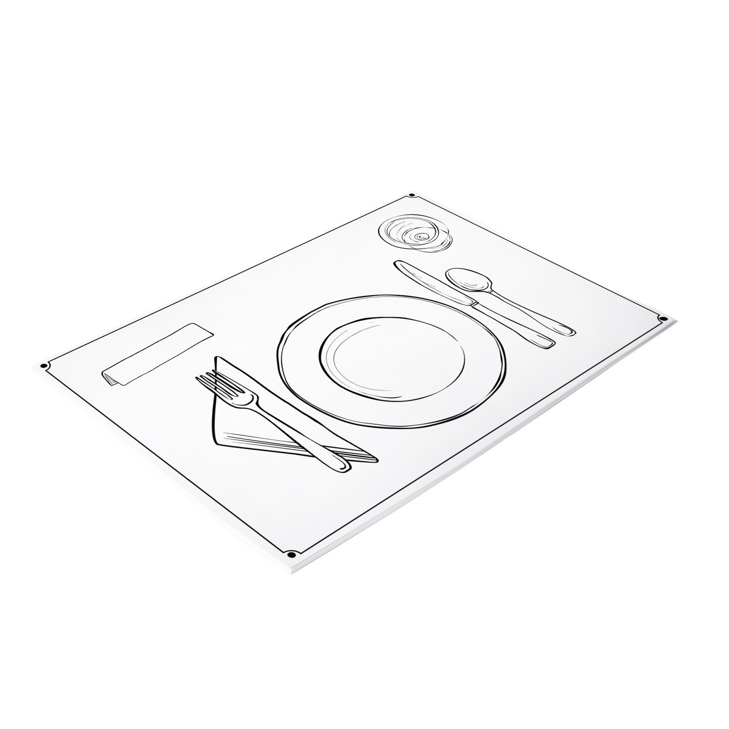 1500x1500 Paper Placemats Dinner Plate Cocolelly