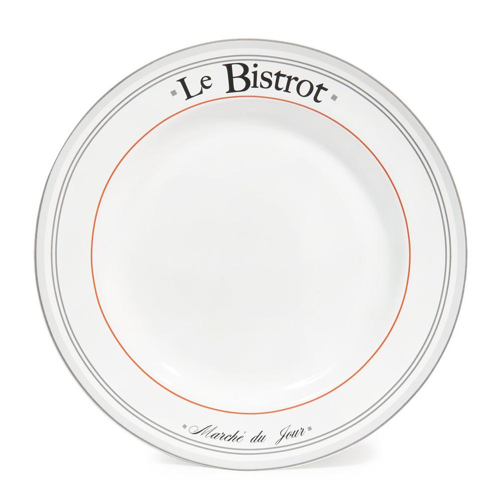 1000x1000 Earthenware Dinner Plate In White D 27cm Maisons Du Monde