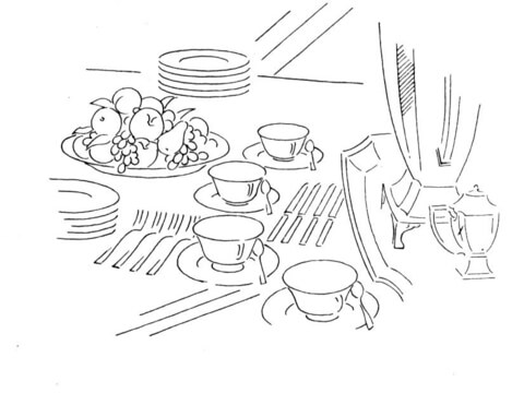 480x360 Dinner Table Coloring Page Free Printable Coloring Pages