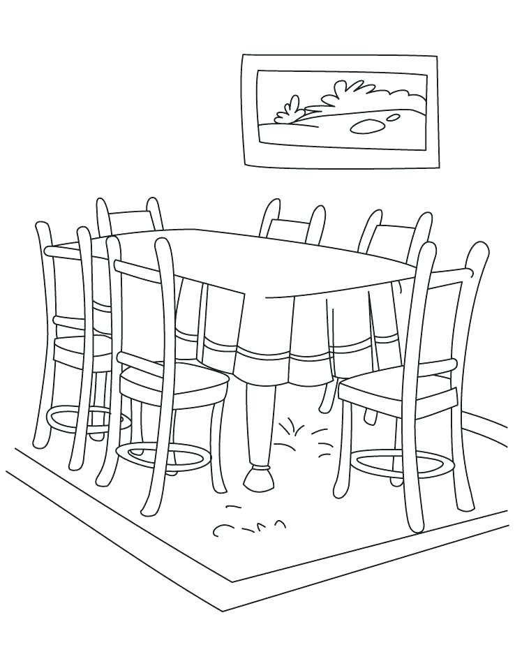 738x954 Dining Room Clipart Images Home Design Fancy Drawing Clip Art